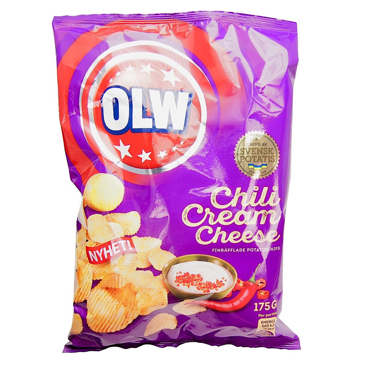 OLW Chips Chili Cream Cheese (175g) 1