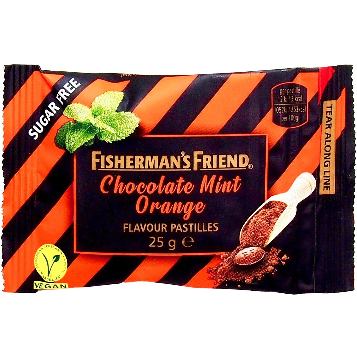 Fisherman's Friend Chocolate Mint Orange ohne Zucker (25g) 1